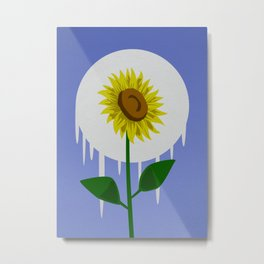 Sunflower in the Moon Metal Print