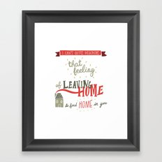 Leaving Home Framed Art Print