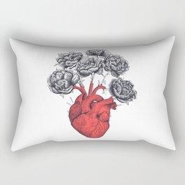 Heart with peonies Rectangular Pillow