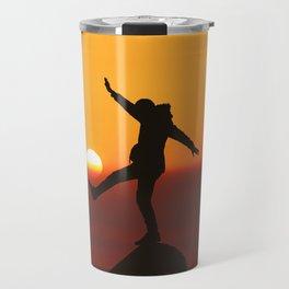 She Kicks the Sun (Color) Travel Mug