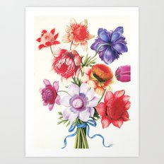 XI. Vintage Flowers Botanical Print by Pierre-Joseph Redouté - Anemones Art Print