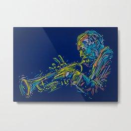 Trumpet Trumpet Player Art Metal Print