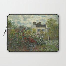 """Claude Monet """"The Artist's Garden in Argenteuil"""" Laptop Sleeve"""
