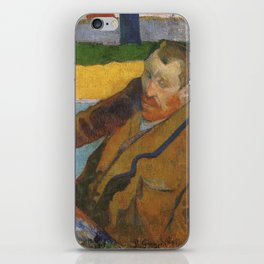 Vincent van Gogh painting sunflowers by Paul Gauguin iPhone Skin