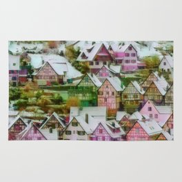 Rustic winter scene C Rug