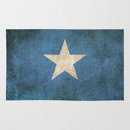 Old and Worn Distressed Vintage Flag of Somalia Rug