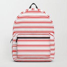 Wide Horizontal Australian Flag Red Mattress Ticking Bed Stripes Backpack