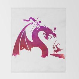 The Dragon Slayer Throw Blanket