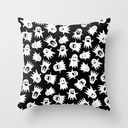 Ghostly Hauntings Throw Pillow