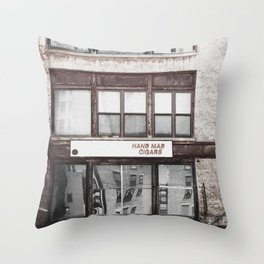 Hand mad cigars on Sixth Avenue Throw Pillow