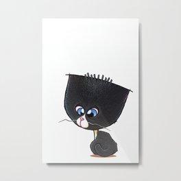 Bewildered Bobtail Kitten Metal Print