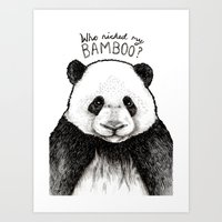 Who Nicked My Bambo (Original) Art Print