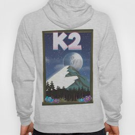 K2 Mountain travel poster Hoody
