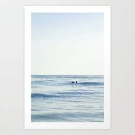 Waiting Out at Sea Art Print