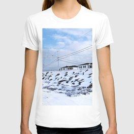 Sea Wall And Twin Houses T-shirt