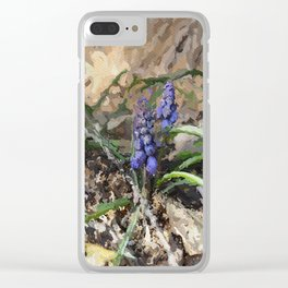 Happy Hyacinth Clear iPhone Case