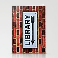 library Stationery Cards featuring Library by Biff Rendar
