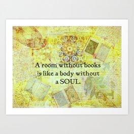 Book Reading Books quote Cicero Art Print
