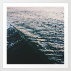 Searching the Surf Art Print