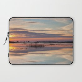 Sunrise over Biebrza river in Poland Laptop Sleeve