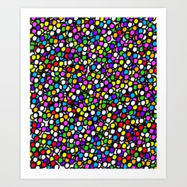 Bubble GUM Colorful Balls Art Print