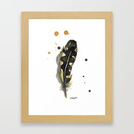 Bohemian Northern Flicker Feather Painting Framed Art Print
