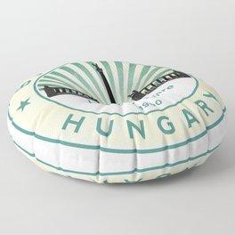 Budapest, Heroes' Square, Hosök tere, Hungary, circle Floor Pillow