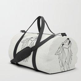 Geometric Howling Wild Wolf Duffle Bag