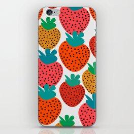 Funny strawberries iPhone Skin