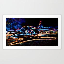 Neon Jet Art Print