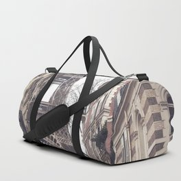 Paris streets, Eiffel tower, city skyline, industrial fine art photo, shabby chic Duffle Bag