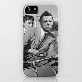 Michael Myers in Roman Holiday iPhone Case