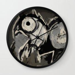 Animal digital painting primitive Wall Clock