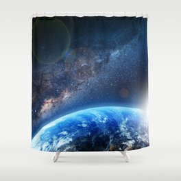 Galaxy - We are not alone. Shower Curtain