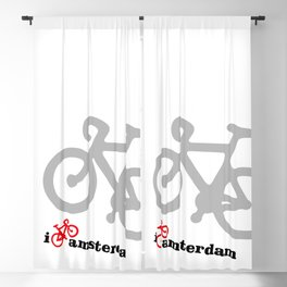 I Love Amsterdam - Red Bike Blackout Curtain