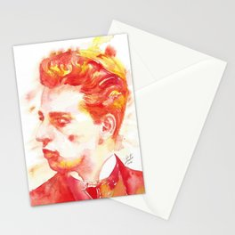 RAINER MARIA RILKE - watercolor portrait.3 Stationery Cards