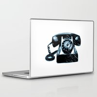 telephone Laptop & iPad Skins featuring Old Telephone by Mr and Mrs Quirynen