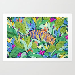 Colorful Jungle Art Print
