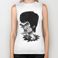 bruce springsteen Biker Tanks featuring Bruce by Hanif