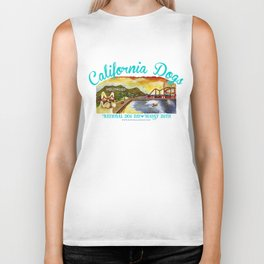 I Love California Dogs National Dog Day Biker Tank