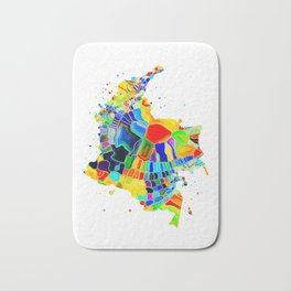 Colombia Map Bath Mat