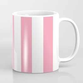 Flower girl pink - solid color - white vertical lines pattern Coffee Mug
