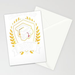 Class-of-2019---Class-of-2019-Graduation-T-Shirt Stationery Cards