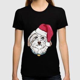 Havanese Dog Christmas Hat Present T-shirt