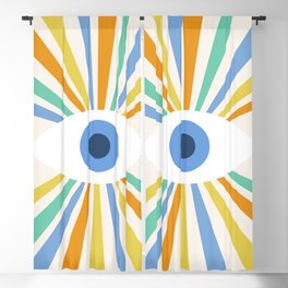 All Seeing Evil Eye Blackout Curtain