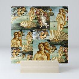 "Sandro Botticelli ""The Birth of Venus"" collage Mini Art Print"