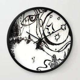 Mala costumbre Wall Clock