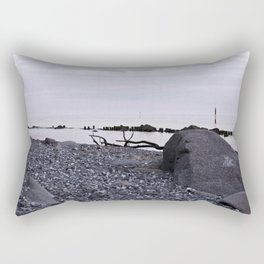 STONE BEACH on the Baltic Sea Rectangular Pillow