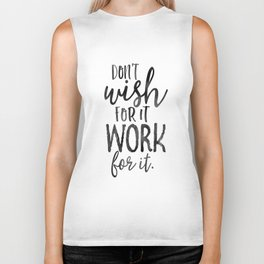 MOTIVATIONAL WALL DECOR, Don't Wish For It Work For It,Work Hard Stay Humble,Be Kinds,Office Sign,Of Biker Tank