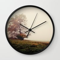 lonely Wall Clocks featuring lonely by Mary Carroll